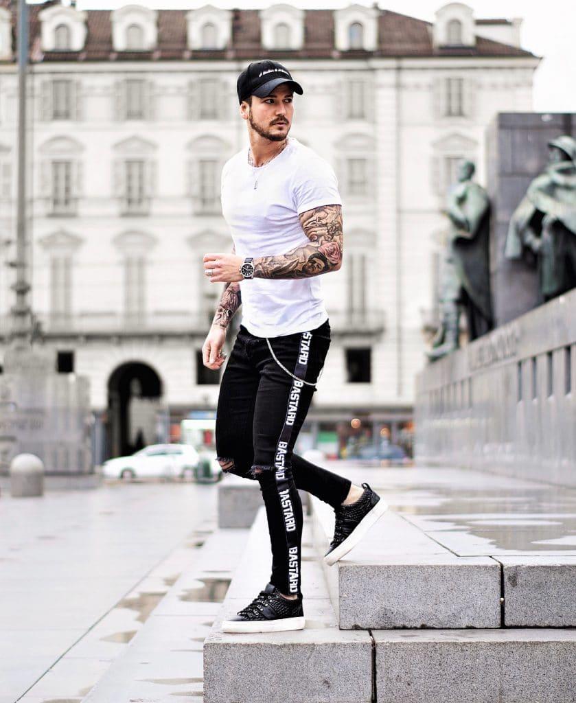Street wear, jeans, sneaker