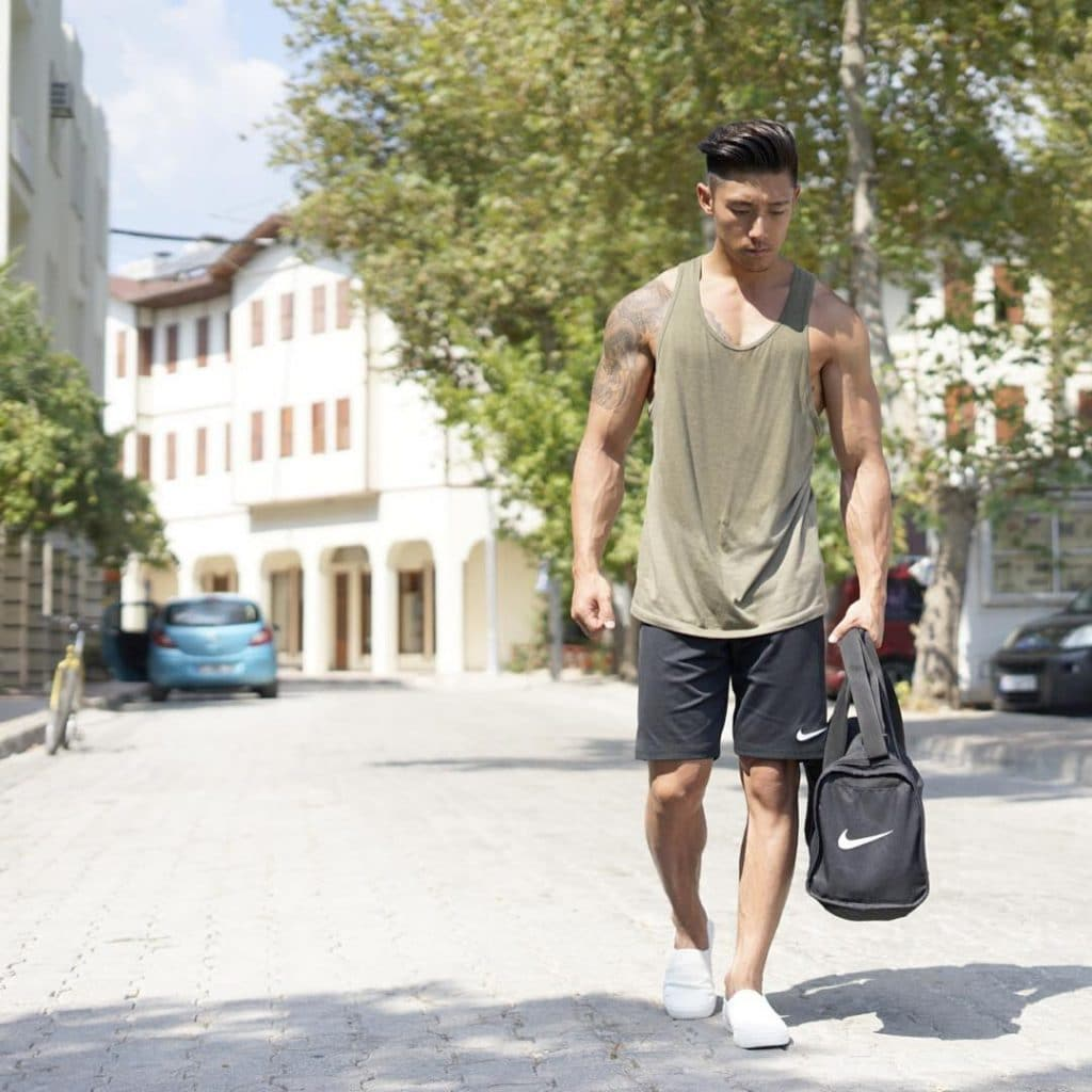 Street wear, singlet, sport pants, sneaker