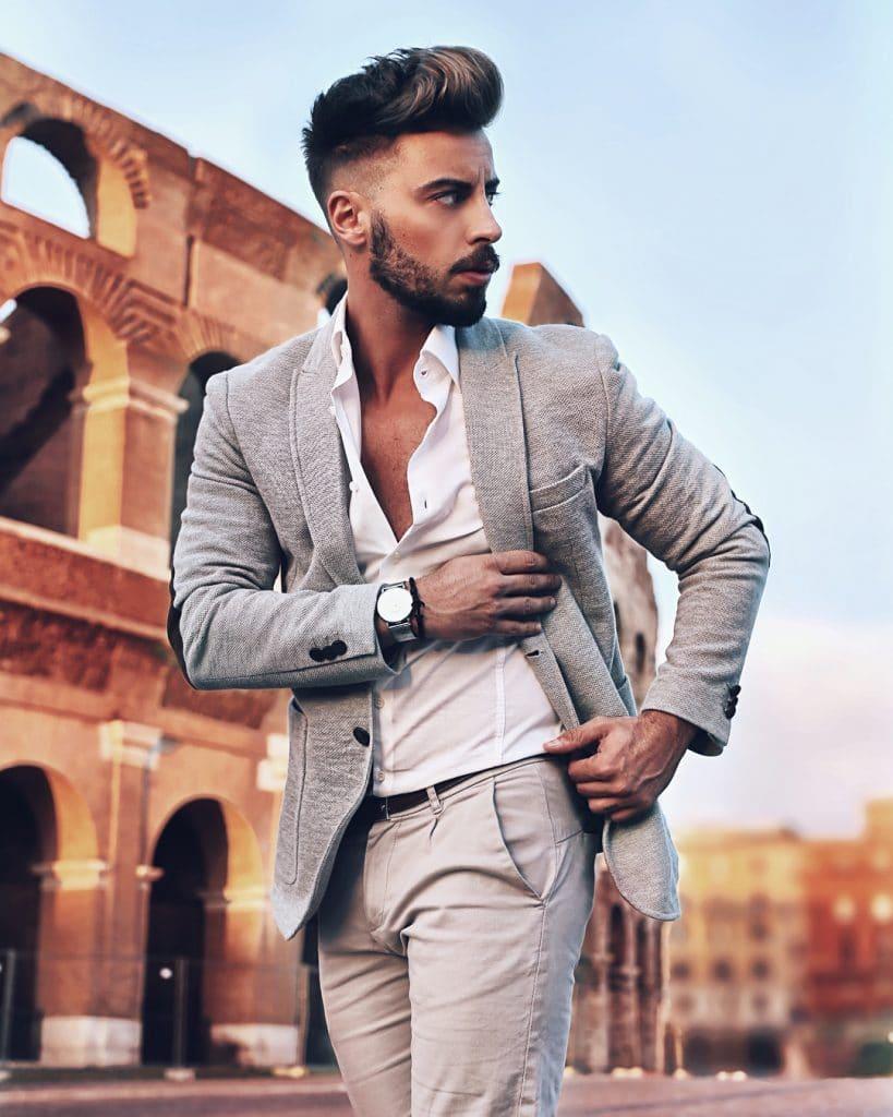 Blazer, shirt, dress pants