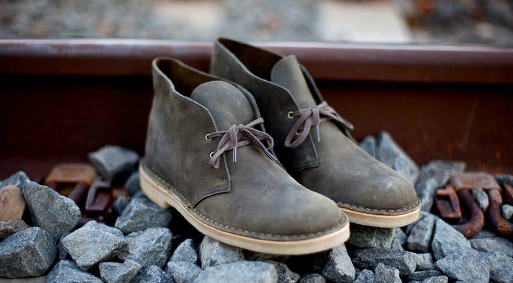 Gray chukka boots