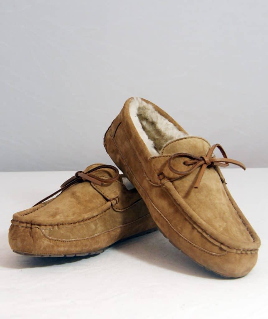 Brown moccasins