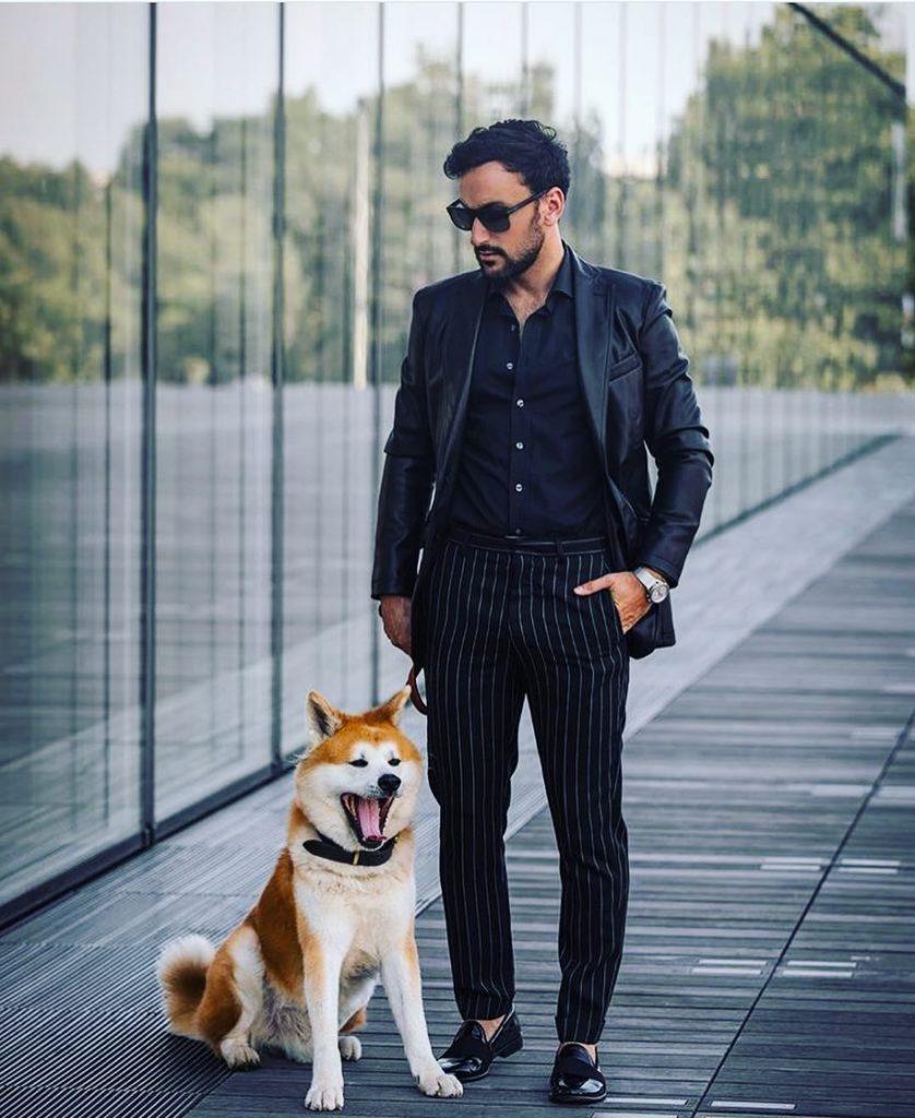 Black shirt, suit, loaders