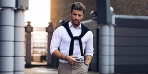 Fashion ideas of styling a men white shirt feature