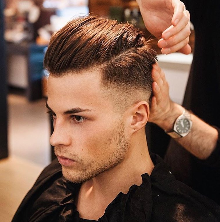 Men pompadour hairstyle