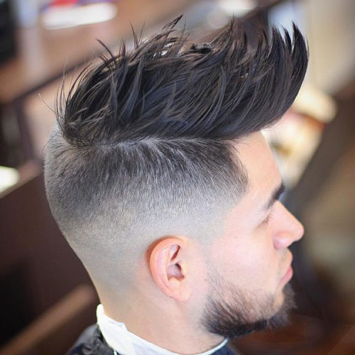 Men fohawk hairstyle