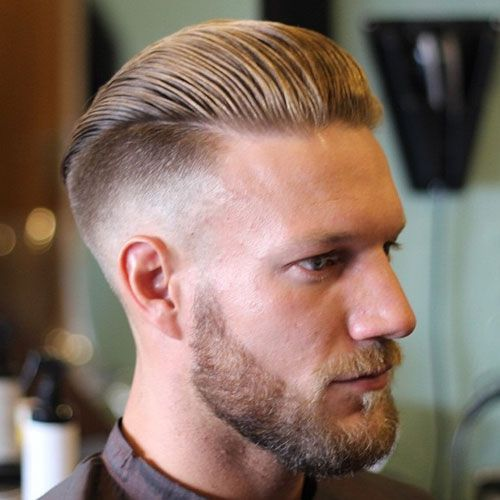 Men slick back hairstyle