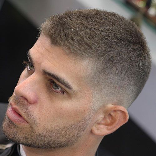 Men crew cut haircut