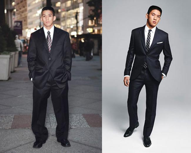 Understand the proportions of suit for short men
