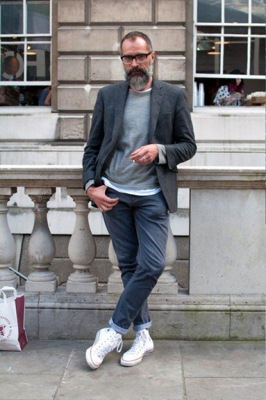 Blazer over tees, jeans 36
