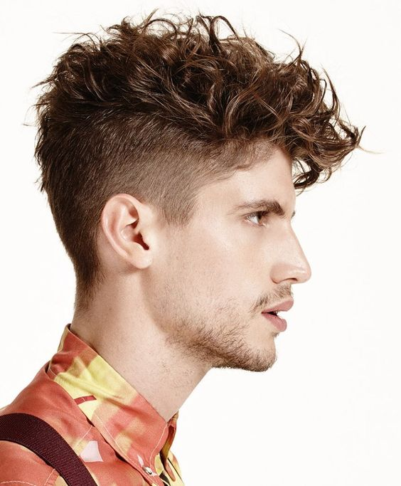 High Fade with Long Wavy Hairstyle for Men 1