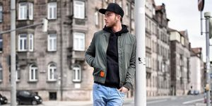 Fashion tips of styling men bomber jackets feature