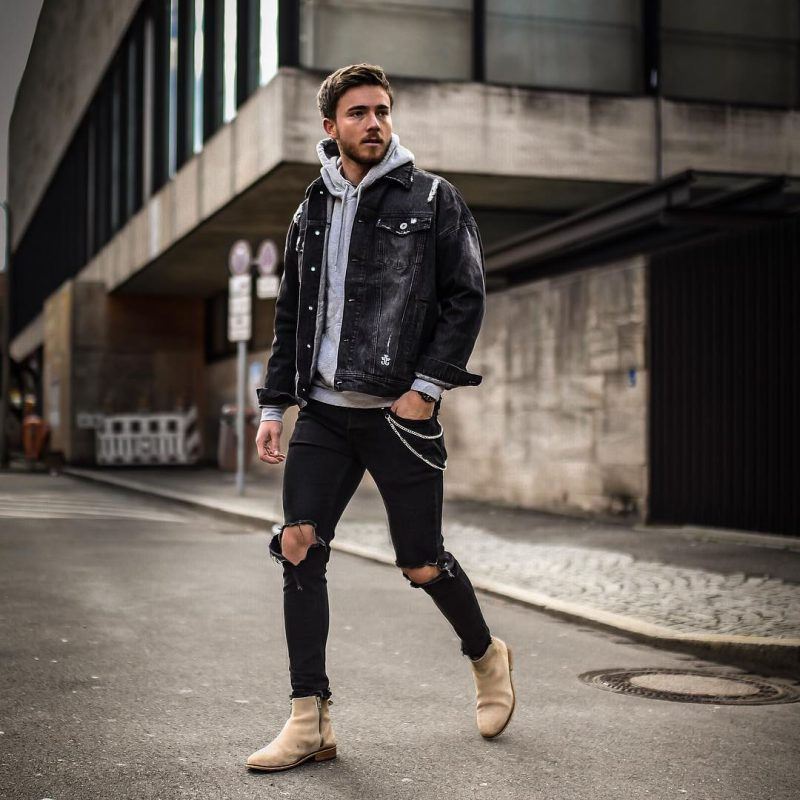 How To Wear A Denim Jacket In Style For This Fall Men S Fall