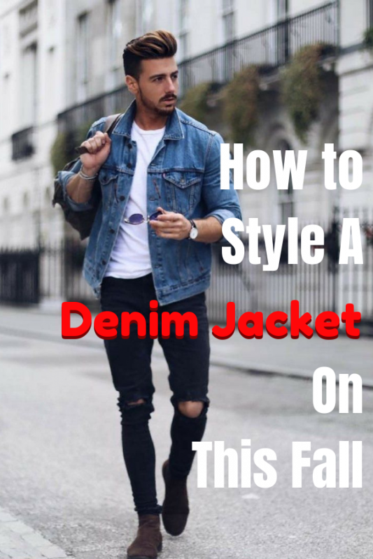 How to style a denim jacket on this fall from urbanmenoutfits.com.