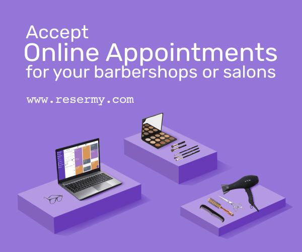 Resermy.com Salon Spa Barber Online Appointment App Mobile