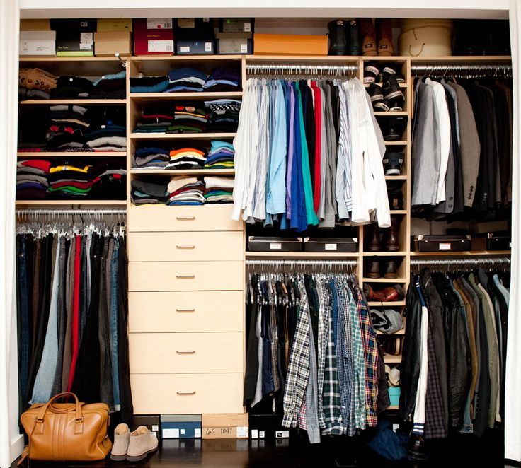 Man's wardrobe/closet full with clothes 1