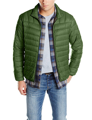 Green Hawke & Co Men's Packable Down Puffer Jacket II 1
