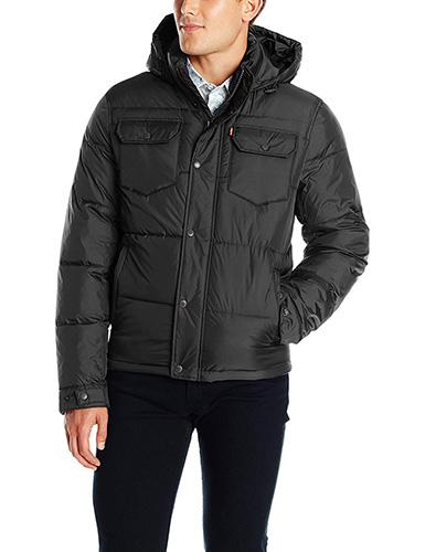 Levi's Men's Two-Pocket Puffer Hooded Jacket 1