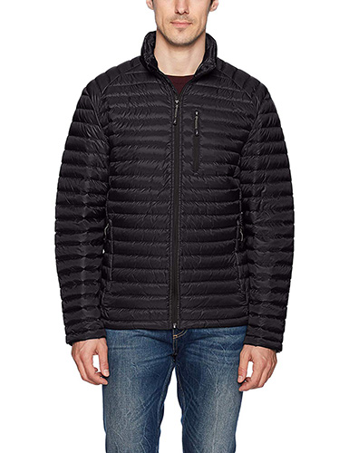 Black Nautica Men's Down Packable Puffer Jacket 1