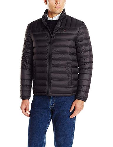 Black Tommy Hilfiger Men's Packable Down Jacket 1