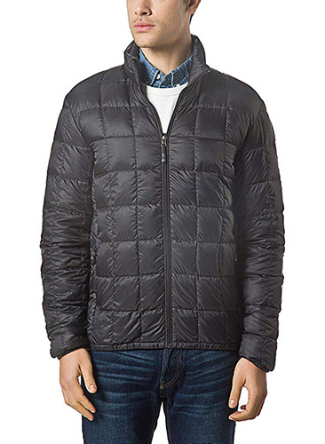 Black XPOSURZONE Men Packable Down Quilted Puffer Jacket Lightweight Puffer Coat 1