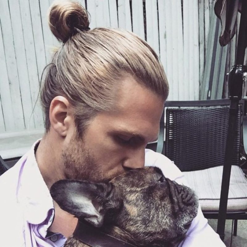 Slicked Back + Samurai Man Bun 1