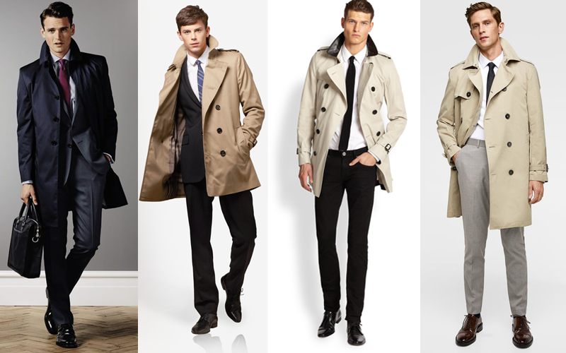 Office trench coat, work approved trench coat, trench coat with suit, trench coat workwear