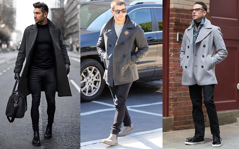 Men's Peacoat with Casual Outfits 1