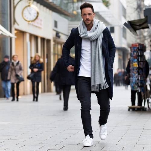 extra long scarf - ways for a man to wear his scarf
